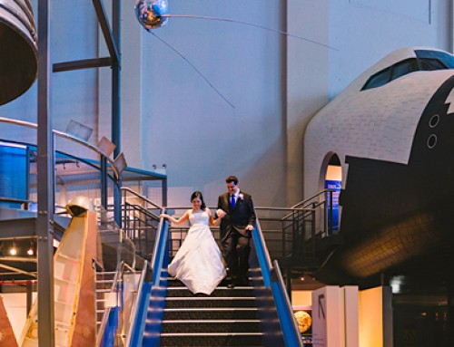 Unposed wedding – Belinda and Tim at the Powerhouse Museum